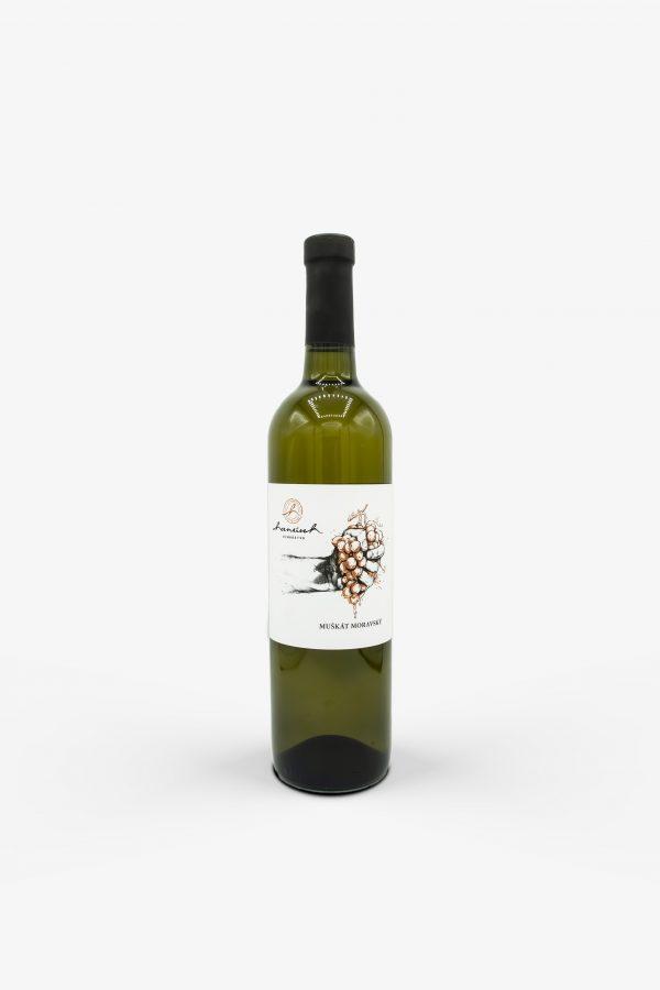 Hanusek, Muskat moravský 2020, vino, biele