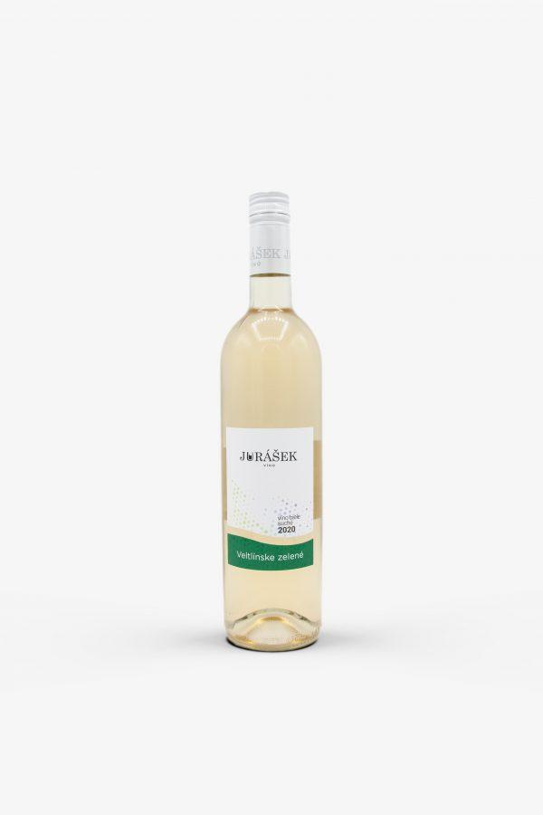 Jurášek Veltlínske zelené 2020, víno, biele