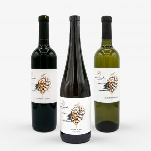 Apríl box 2021, Muškát Moravský 2020, Pinot Blanc 2019, Frankovka modrá 2019, mix, vín