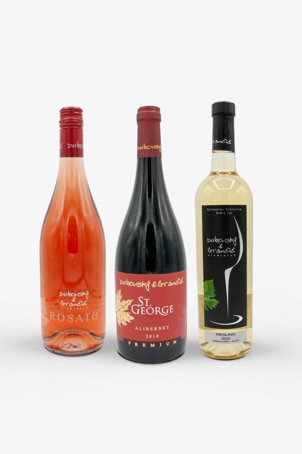 Mix vín z vinárstva Dubovský a Grančič, Rosato, Alibernet a Rislieng